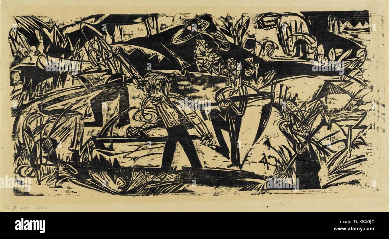 Ernst Ludwig Kirchner Heuer - Stock Image