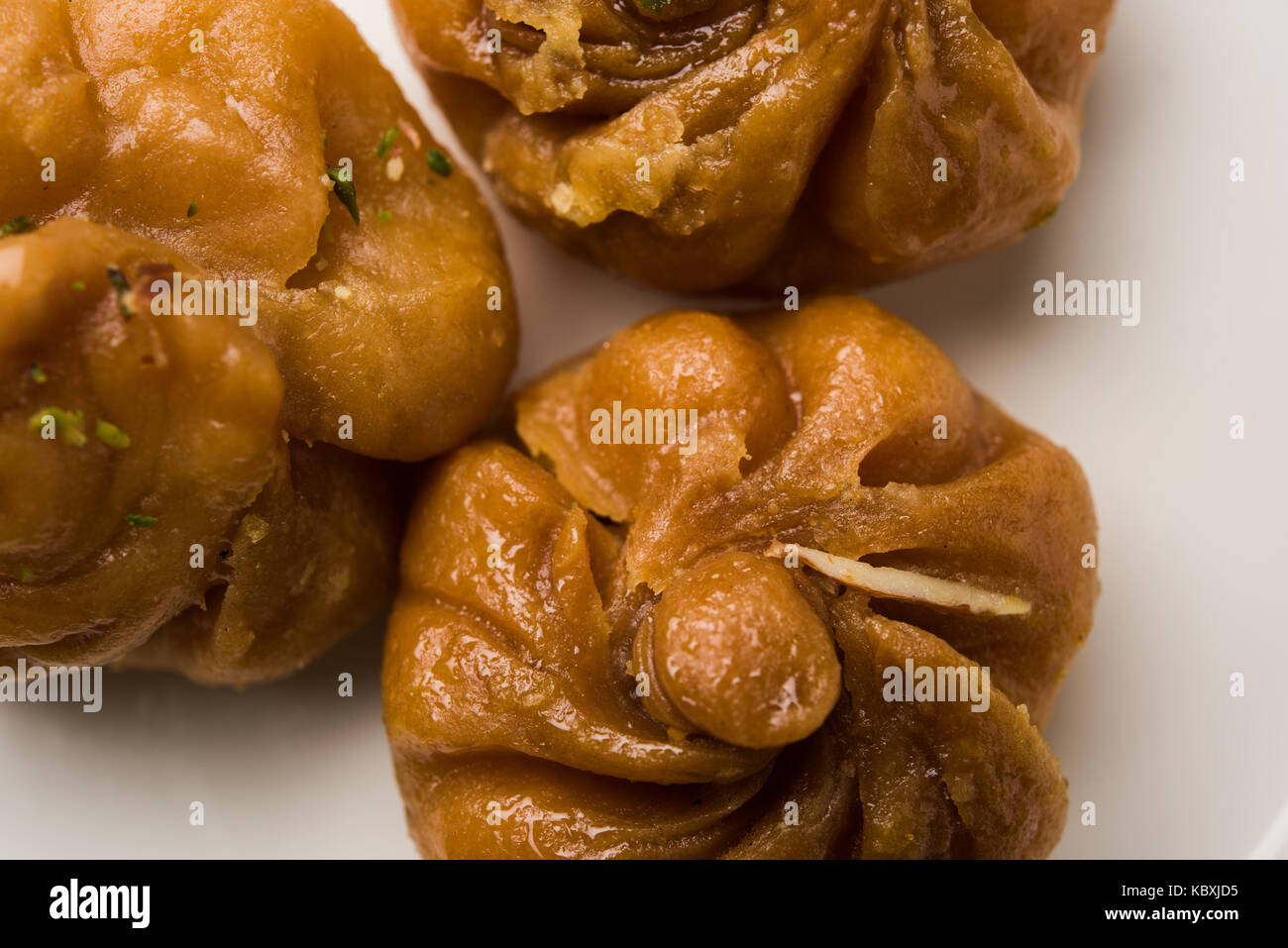 Stock photo of Balushahi, Indian sweet food made up of Maida floor, oil and sugar, selective focus - Stock Image