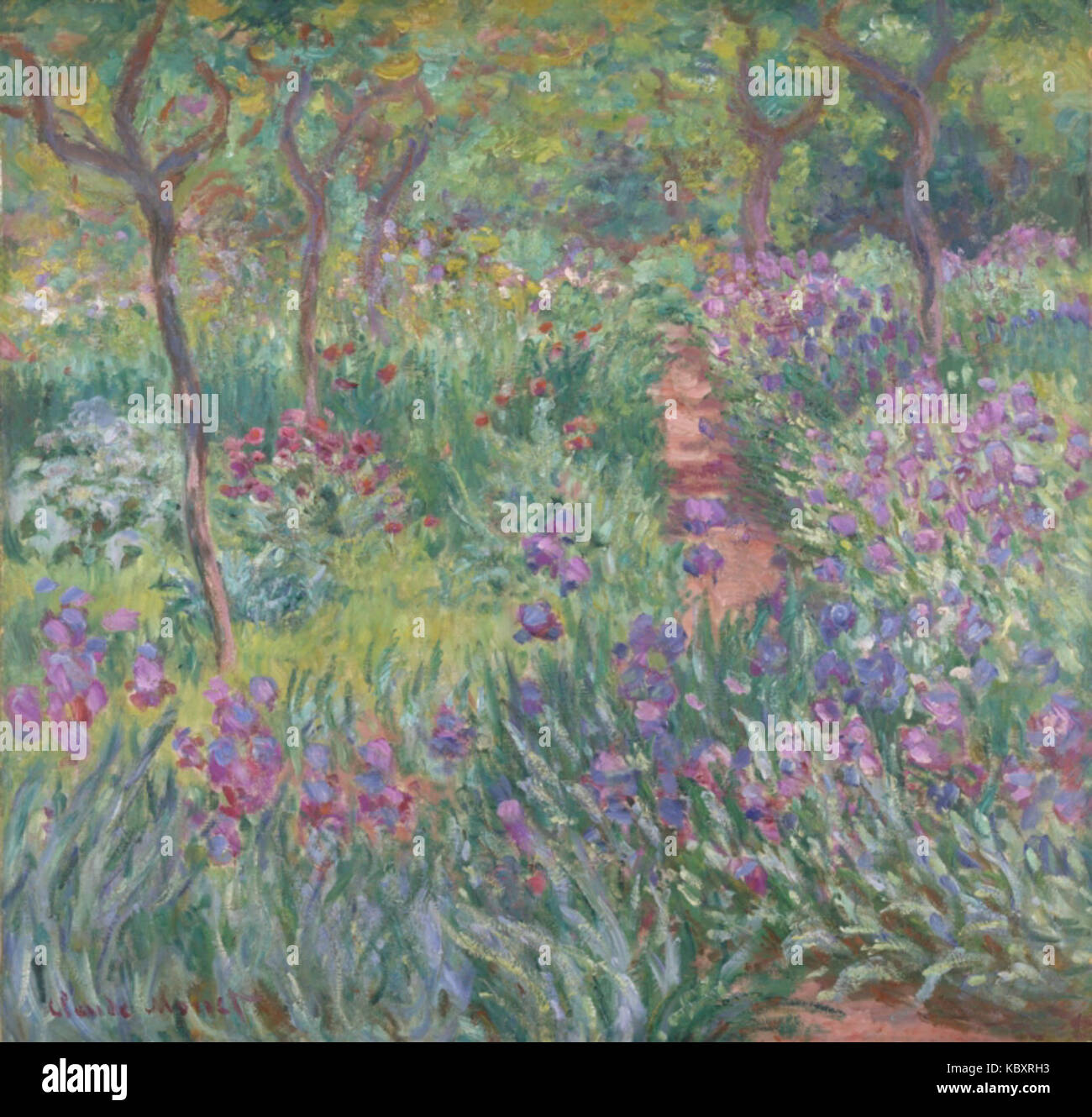 The Artist S Garden At Giverny By Claude Monet 1900 Stock Photo