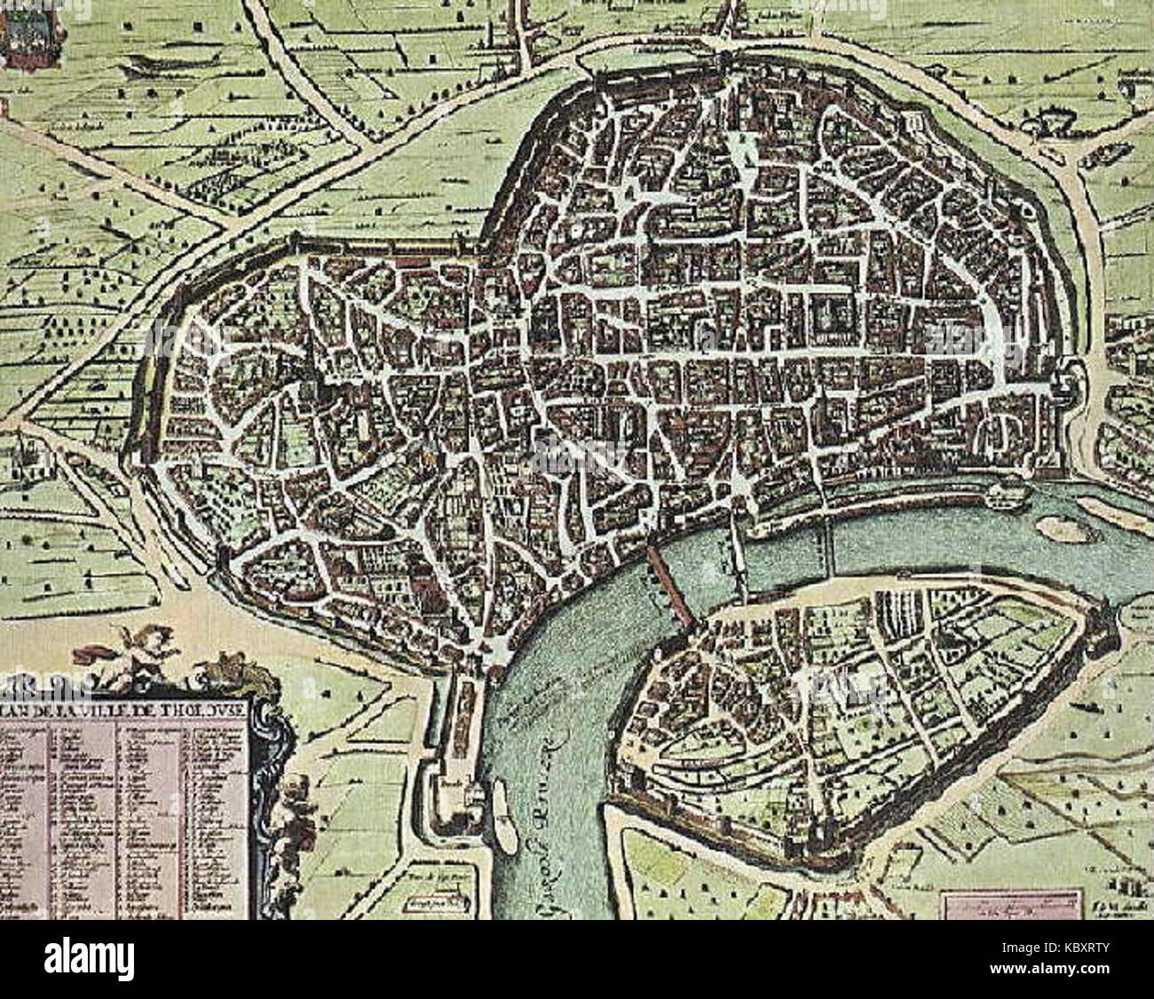 Toulouse Karte.Toulouse Karte 1631 Stock Photo 162244011 Alamy