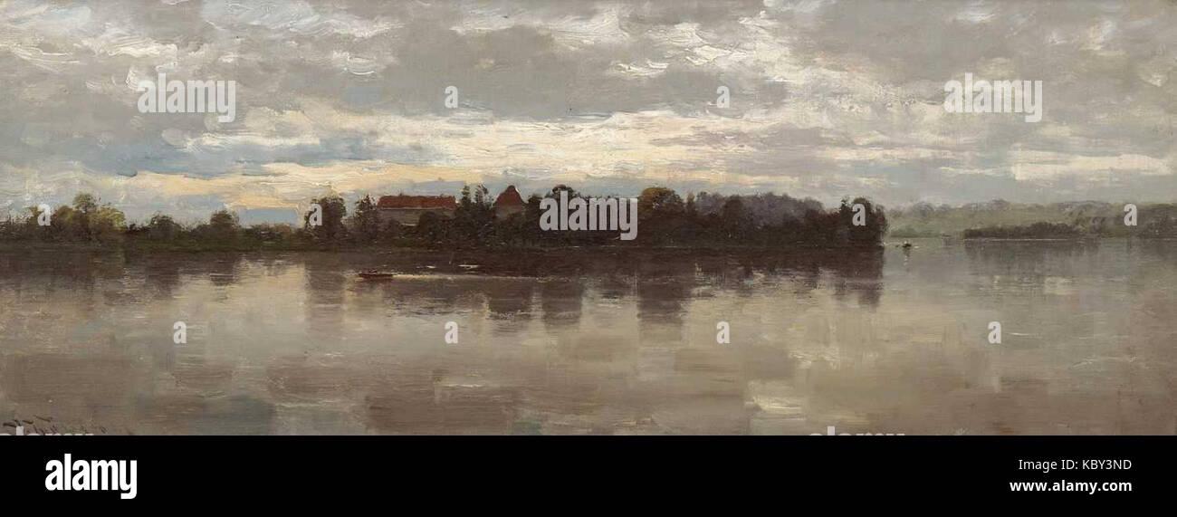 Josef Wopfner   Blick auf die Herreninsel - Stock Image