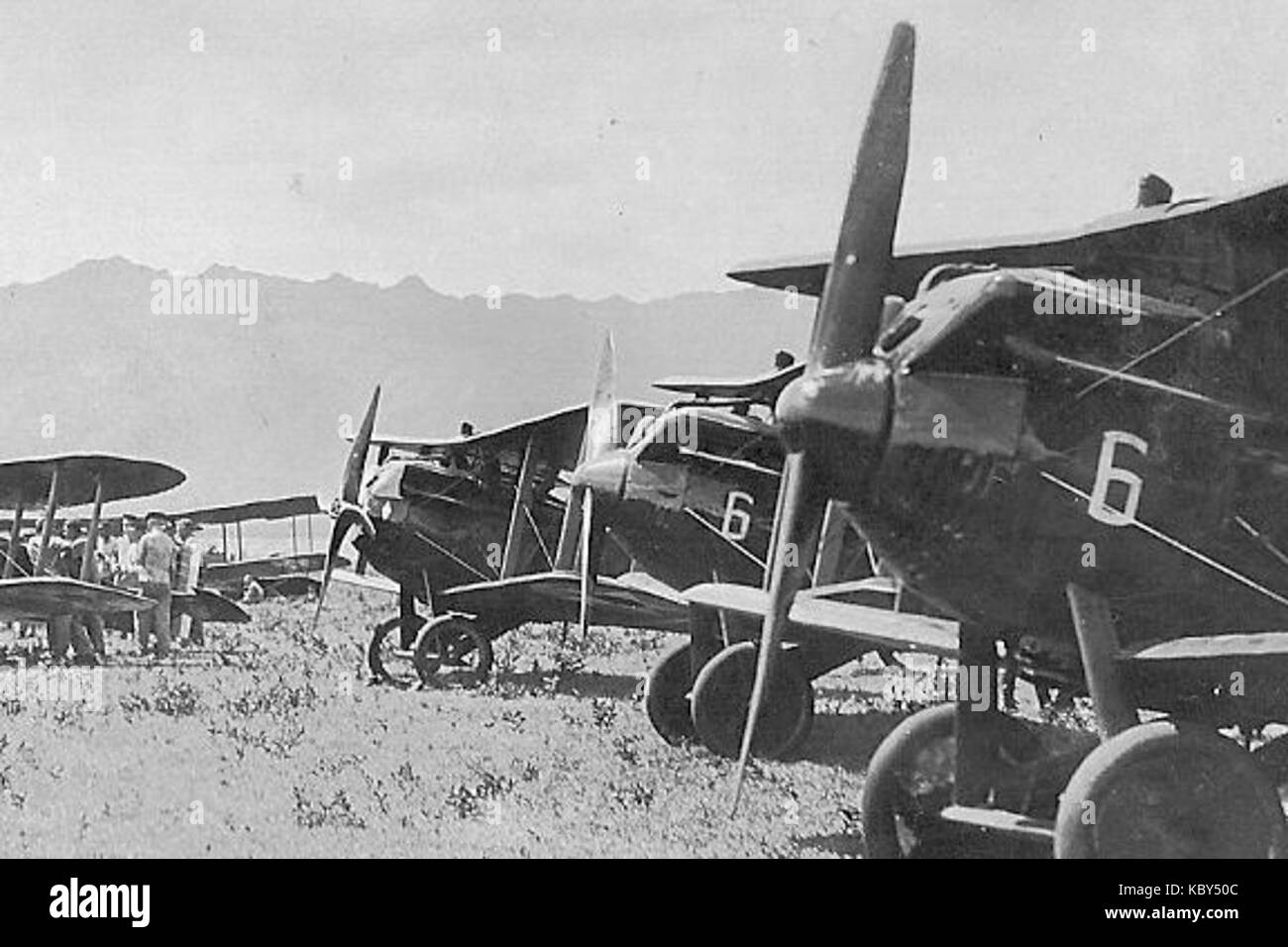 6th Aero Squadron JN 6s - Stock Image
