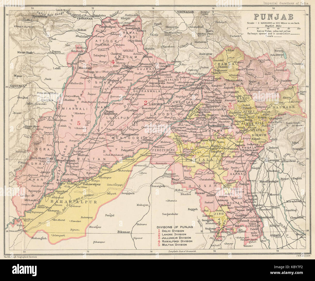 Map Of Punjab Stock Photos & Map Of Punjab Stock Images - Alamy