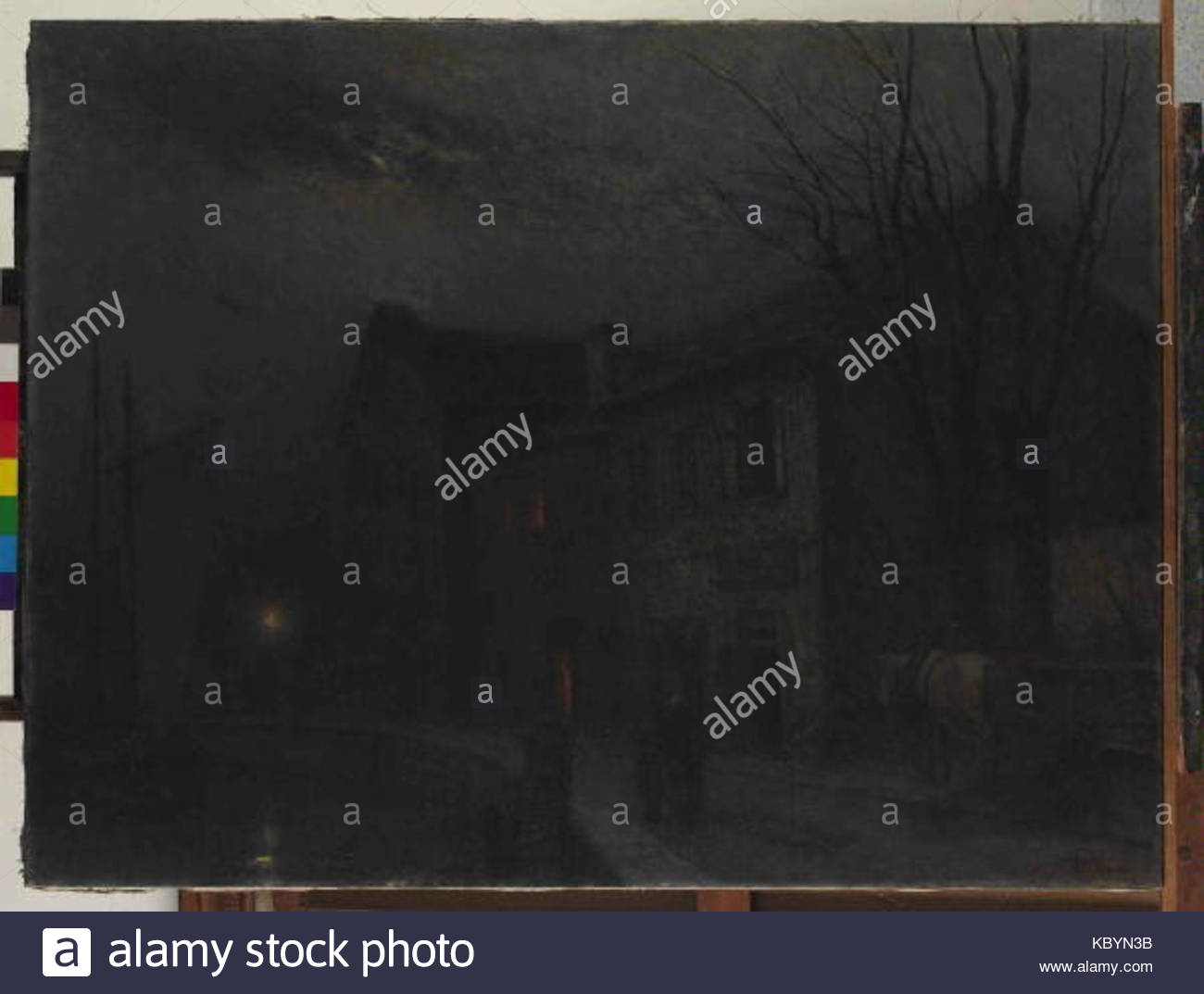 Jakub Schikaneder 27. 2. 1855 15. 11. 1924   Ulicka na brehu Stock Photo