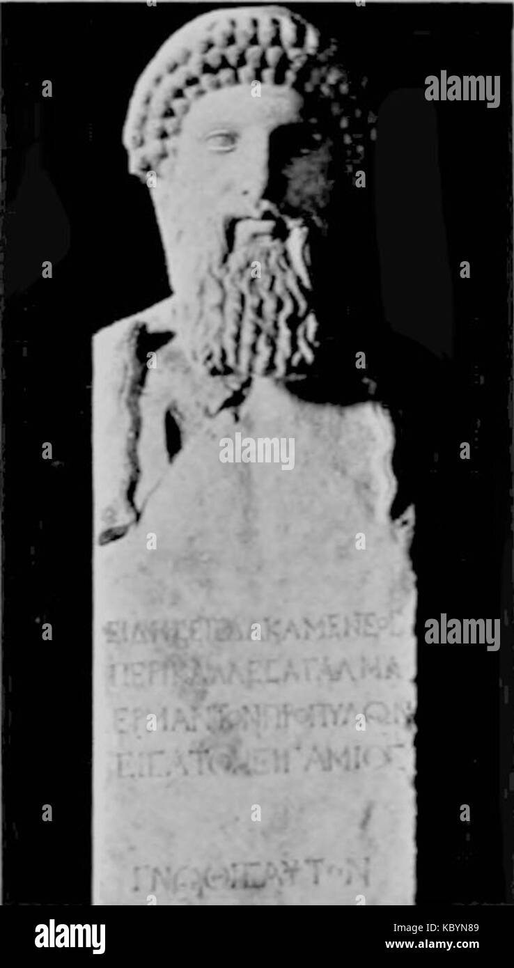 EB1911 Greek Art Hermes of Alcamenes Stock Photo - Alamy