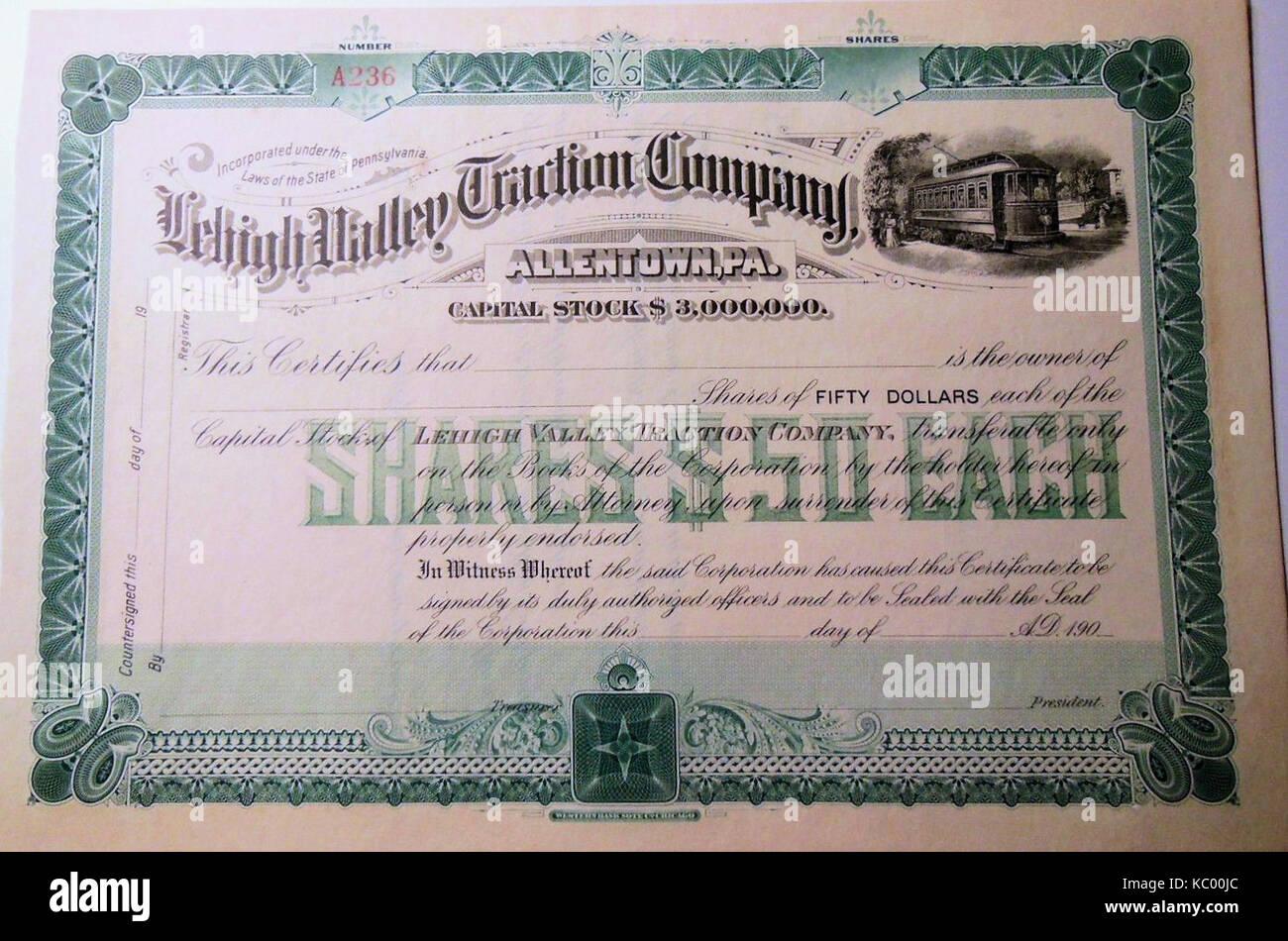 Hatfield National Bank /& Trust Company Stock Certificate Pennsylvania