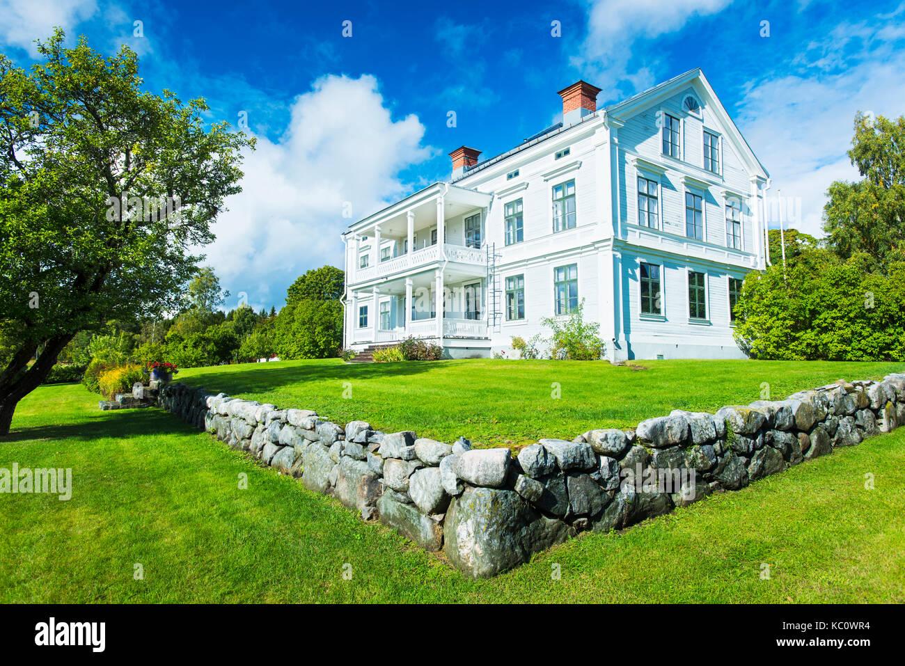 The historic mansion of Galtströms Herrgård in Galtströms, Sweden - Stock Image
