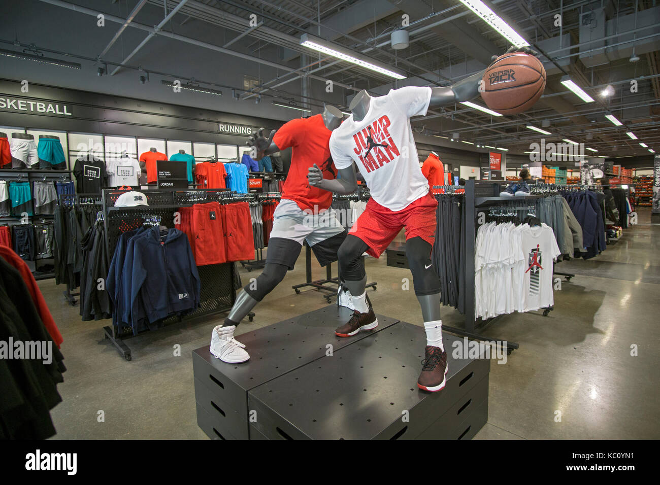 01bdb5c21213 The interior of the Nike Factory Store at the Tanger Outlet Mall in Deer  Park Long