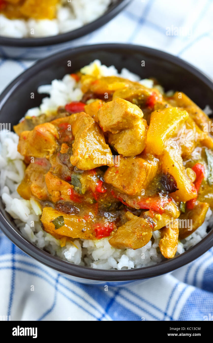 Pressure Cooker Chicken Curry - Stock Image