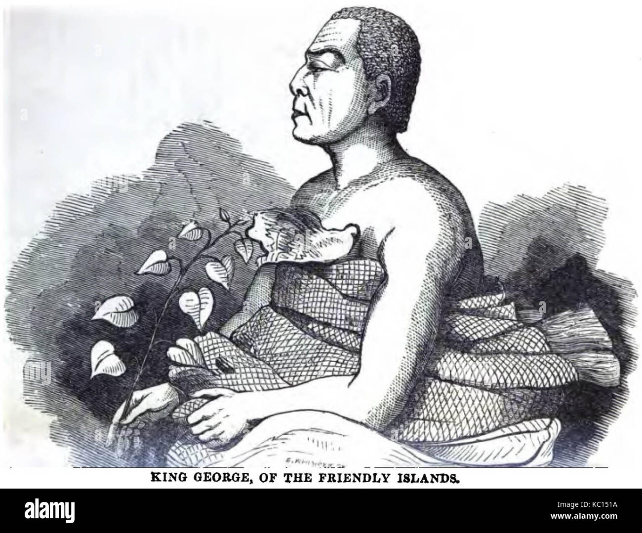 King George, of the Friendly Islands (1852) - Stock Image