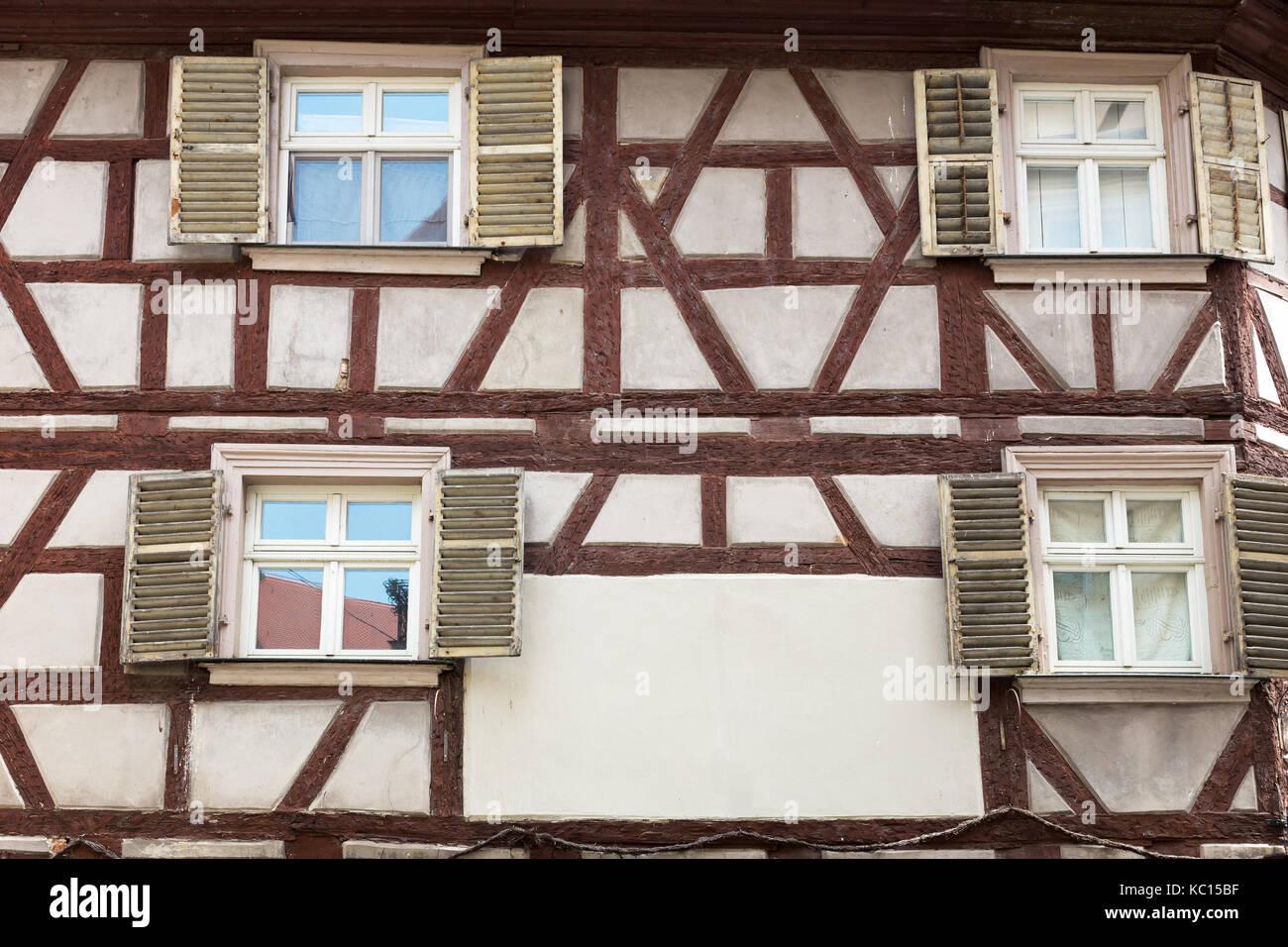 Fachwerk medieval house - Stock Image