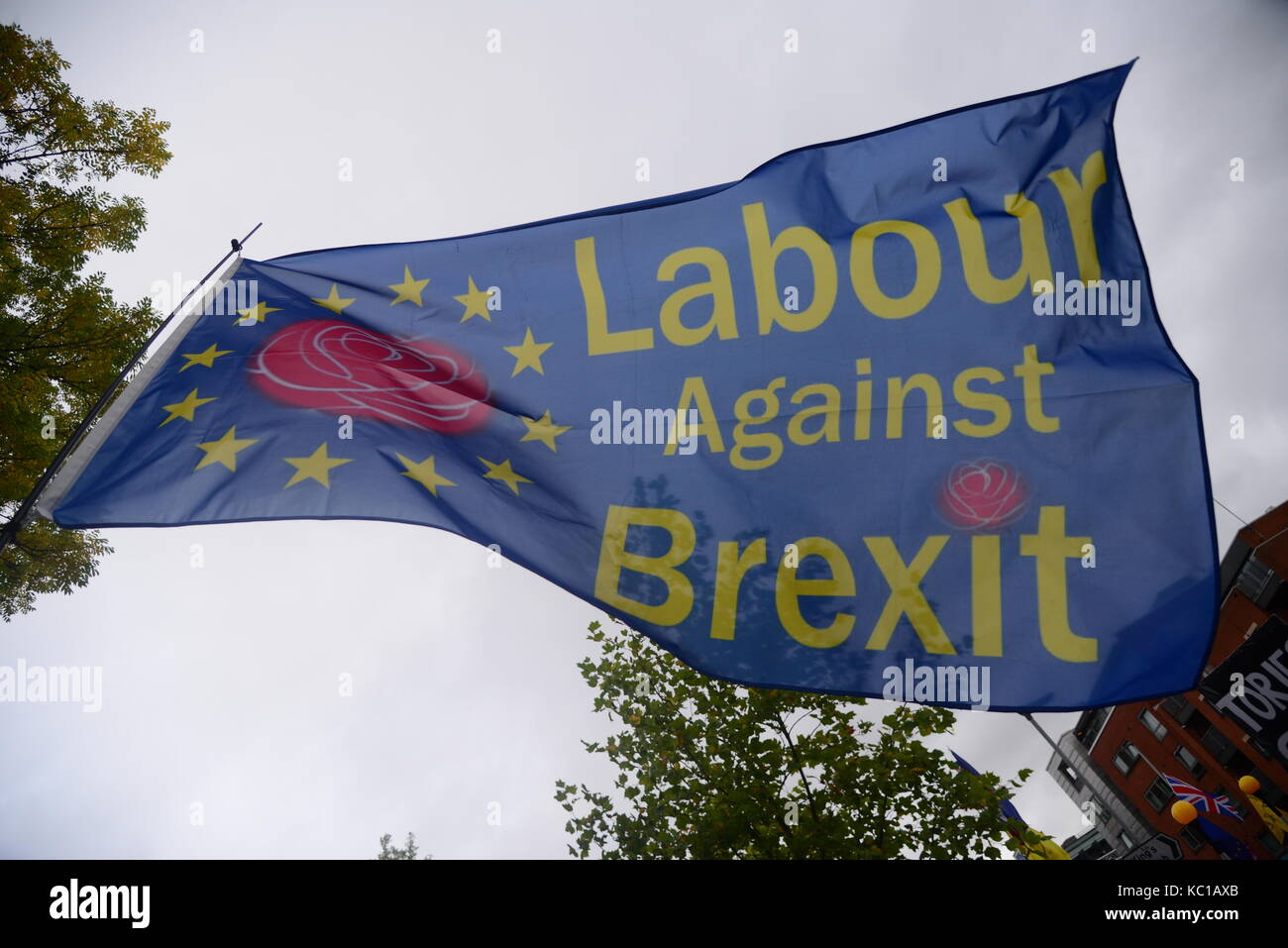 Brexit March, Manchester - Stock Image