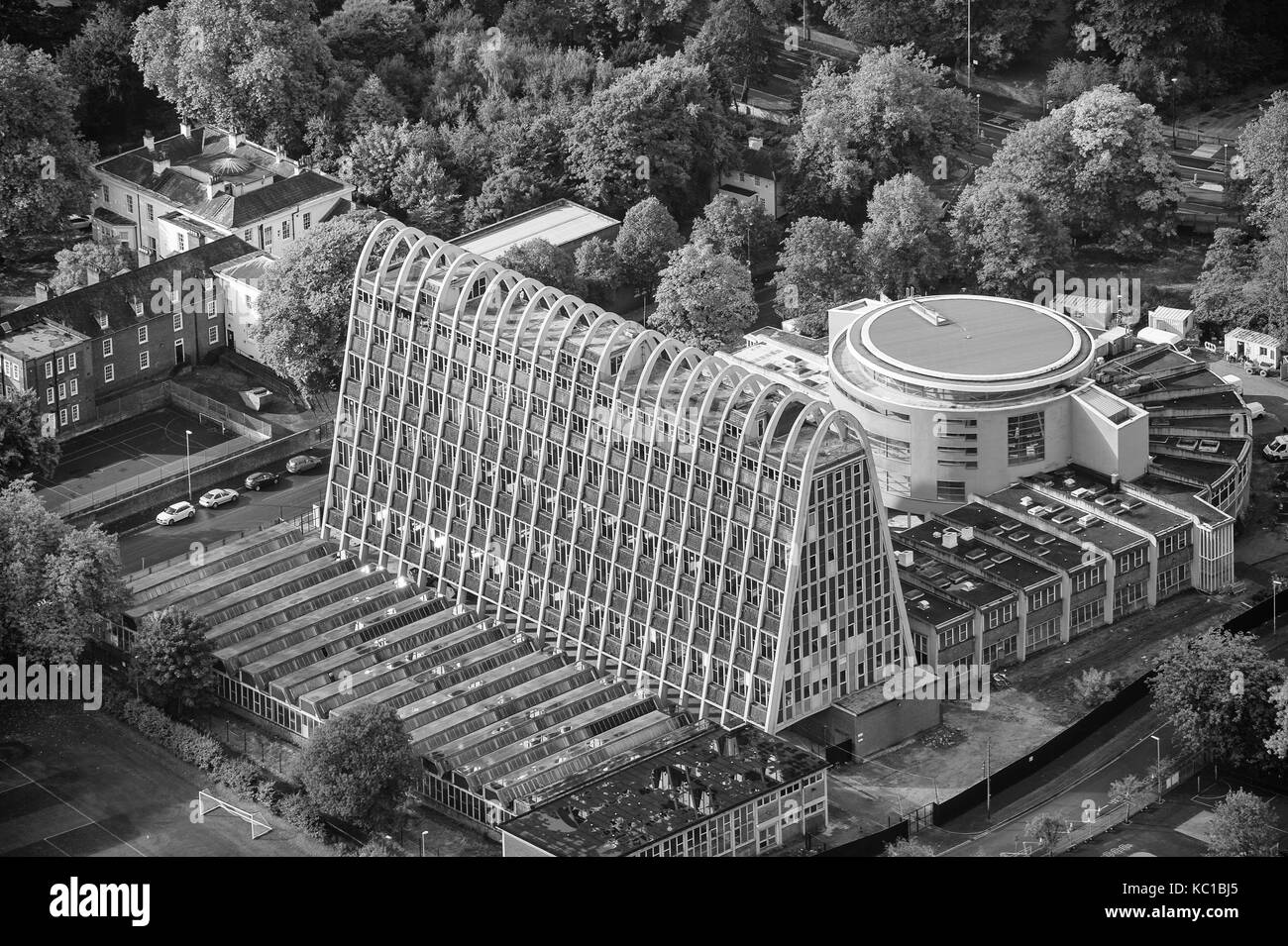 Aerial photo of Toastrack Building Manchester - Stock Image