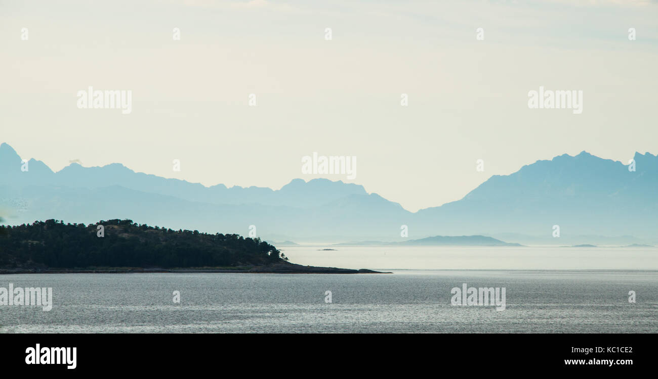 Råna, Ofotfjord, Nordland, Norwegen - Stock Image