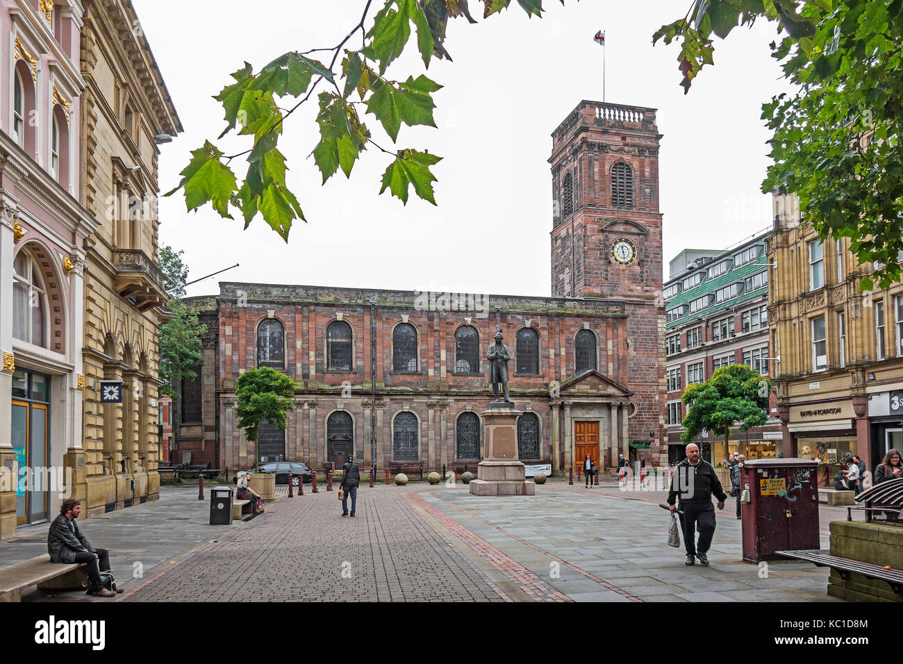 st.anns square in the city of manchester, england, britain, uk. - Stock Image