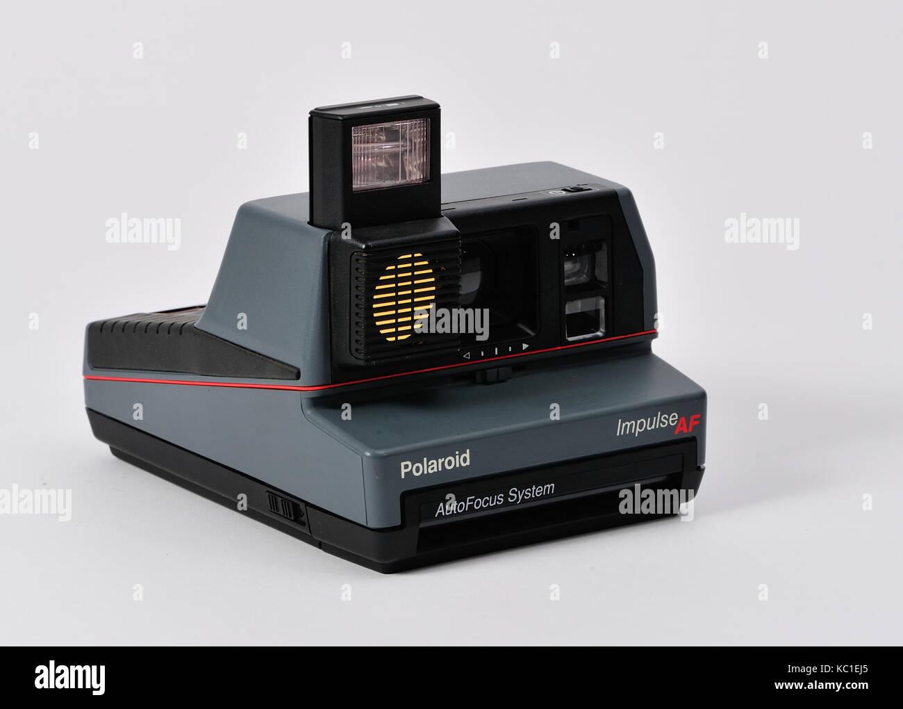 vintage polaroid land camera with instruction manual and box stock rh alamy com Polaroid Impulse QPS Impulse Purple Polaroid Camera