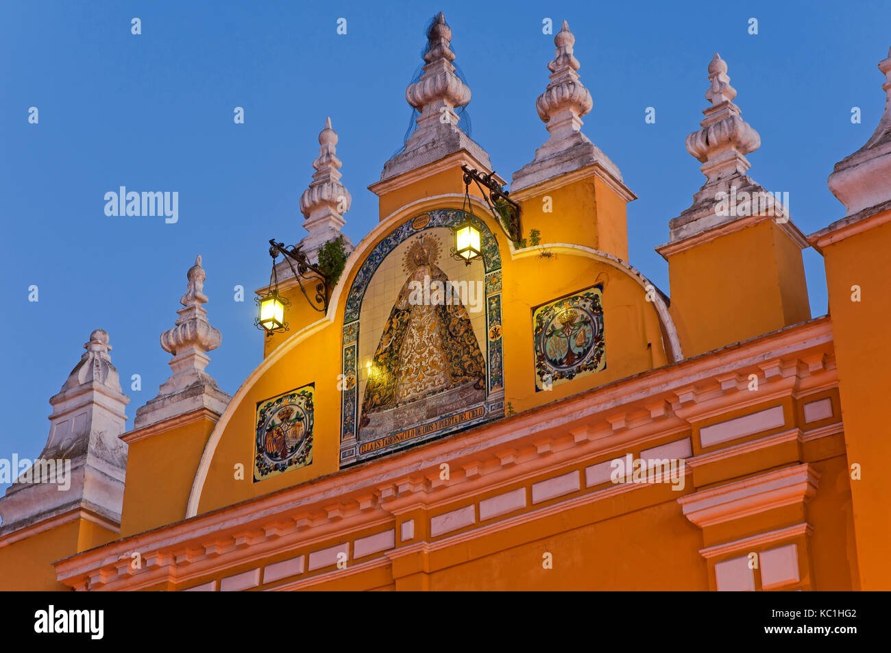 Arch of the Macarena-detail, Seville, Region of Andalusia, Spain, Europe - Stock Image