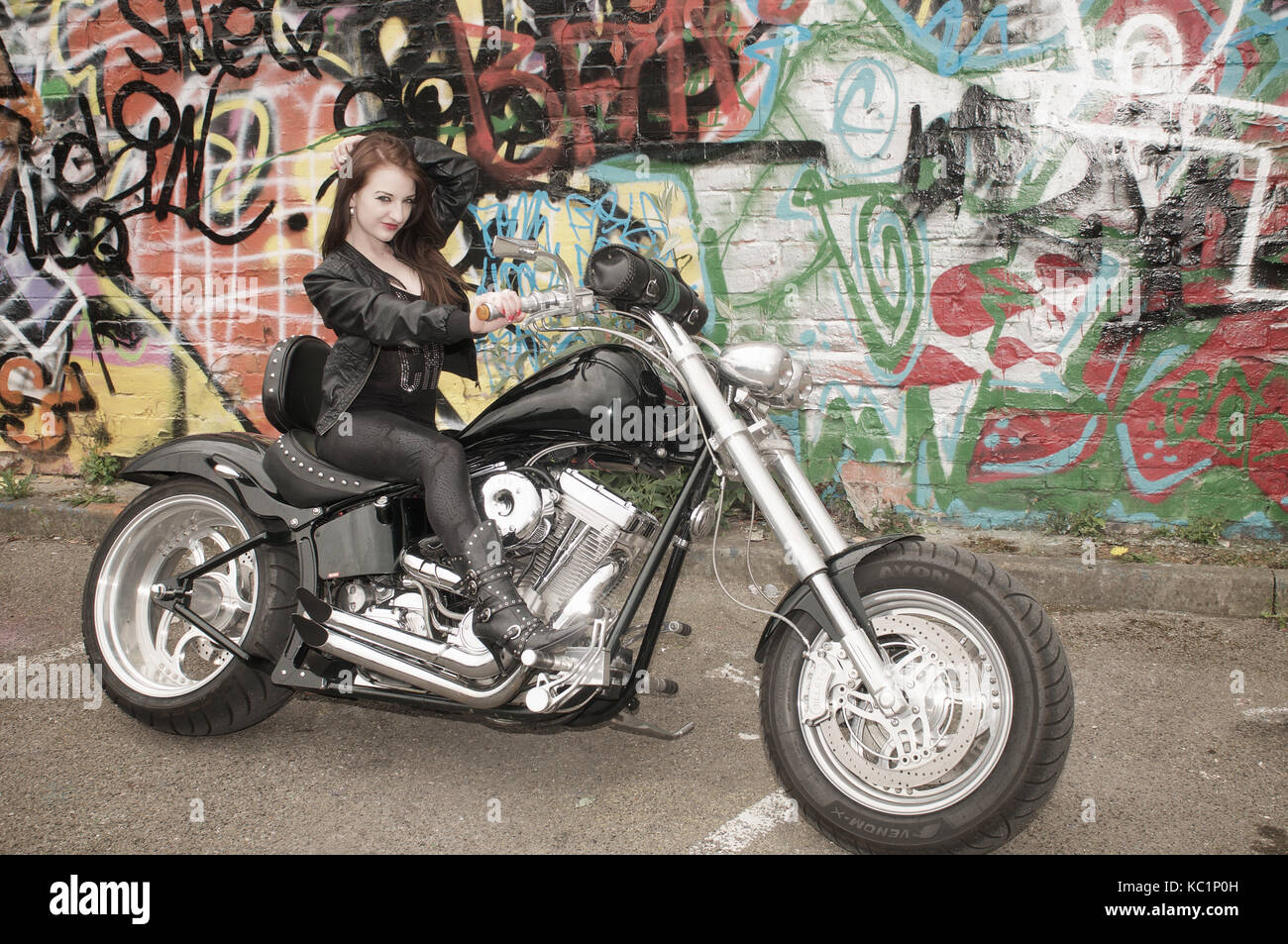 Custom chopper motorcycles and girls you are
