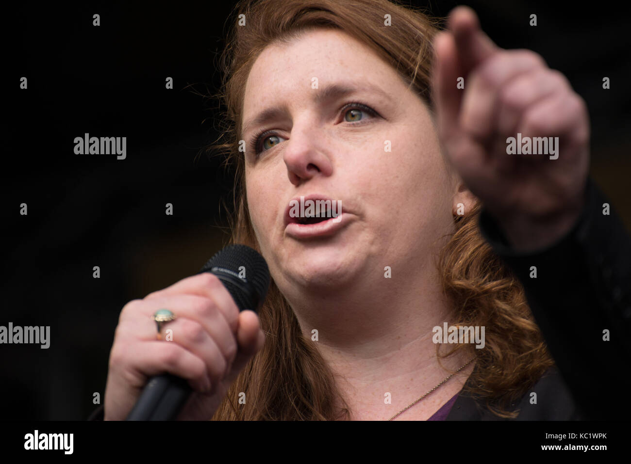 Manchester, UK. 1st October, 2017. Alison McGovern MP, Member of Parliament for Wirral South, co-chair of the all - Stock Image