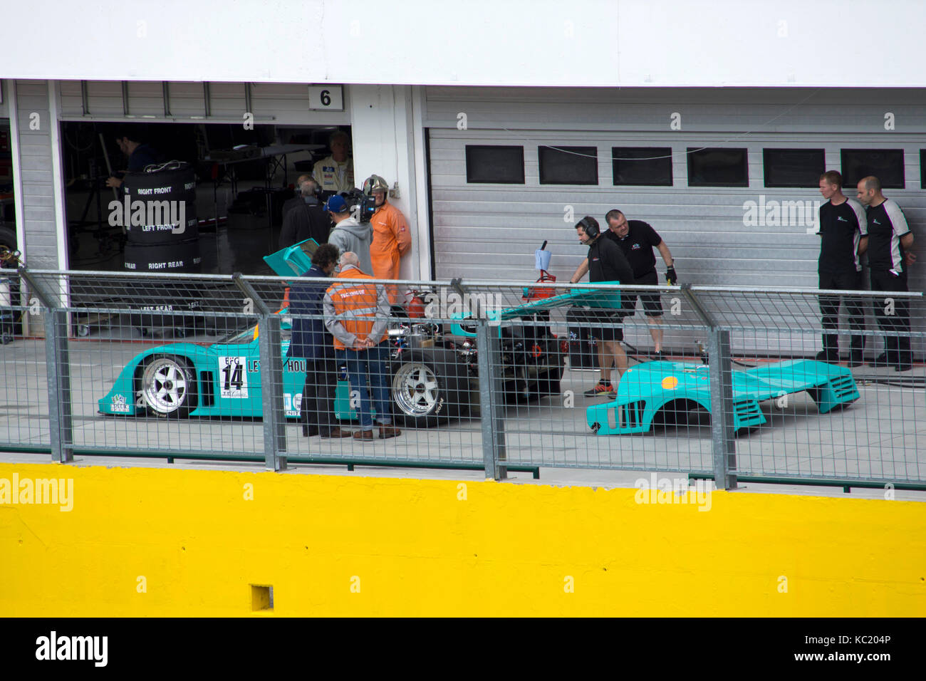 Budapest, Hungary -September 30, 2017: Oldtimer event and races at the Hungaroring circuit on September 30, 2017 - Stock Image
