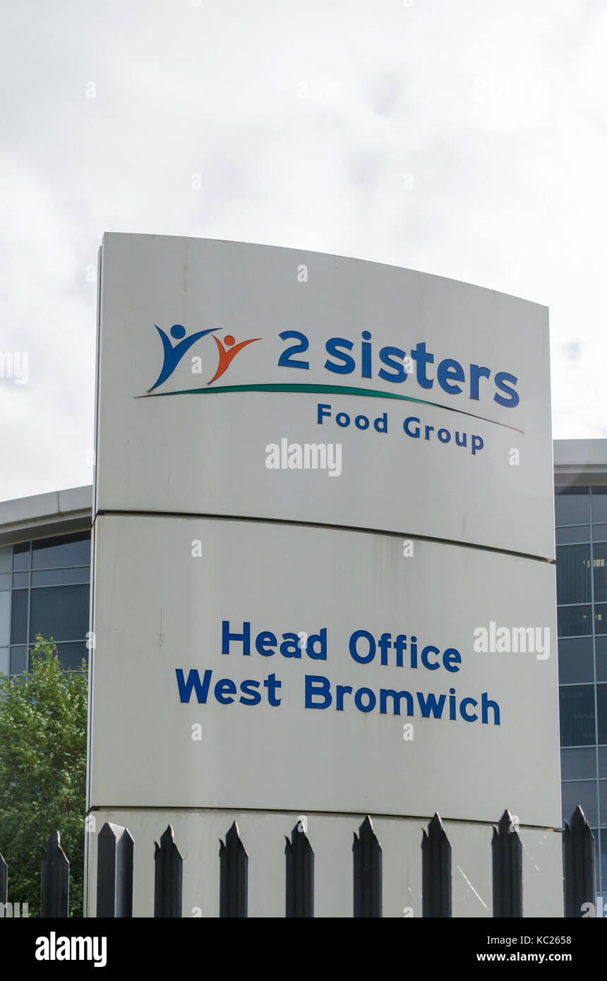 West Bromwich, UK. 2nd October 2017. 2 Sisters Food Group, one of the largest suppliers of chicken to UK supermarkets, - Stock Image