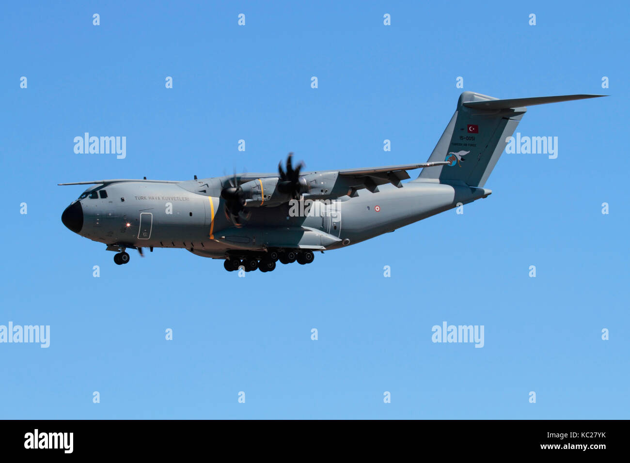 Military air transport. Airbus A400M Atlas heavy cargo plane of the Turkish Air Force - Stock Image
