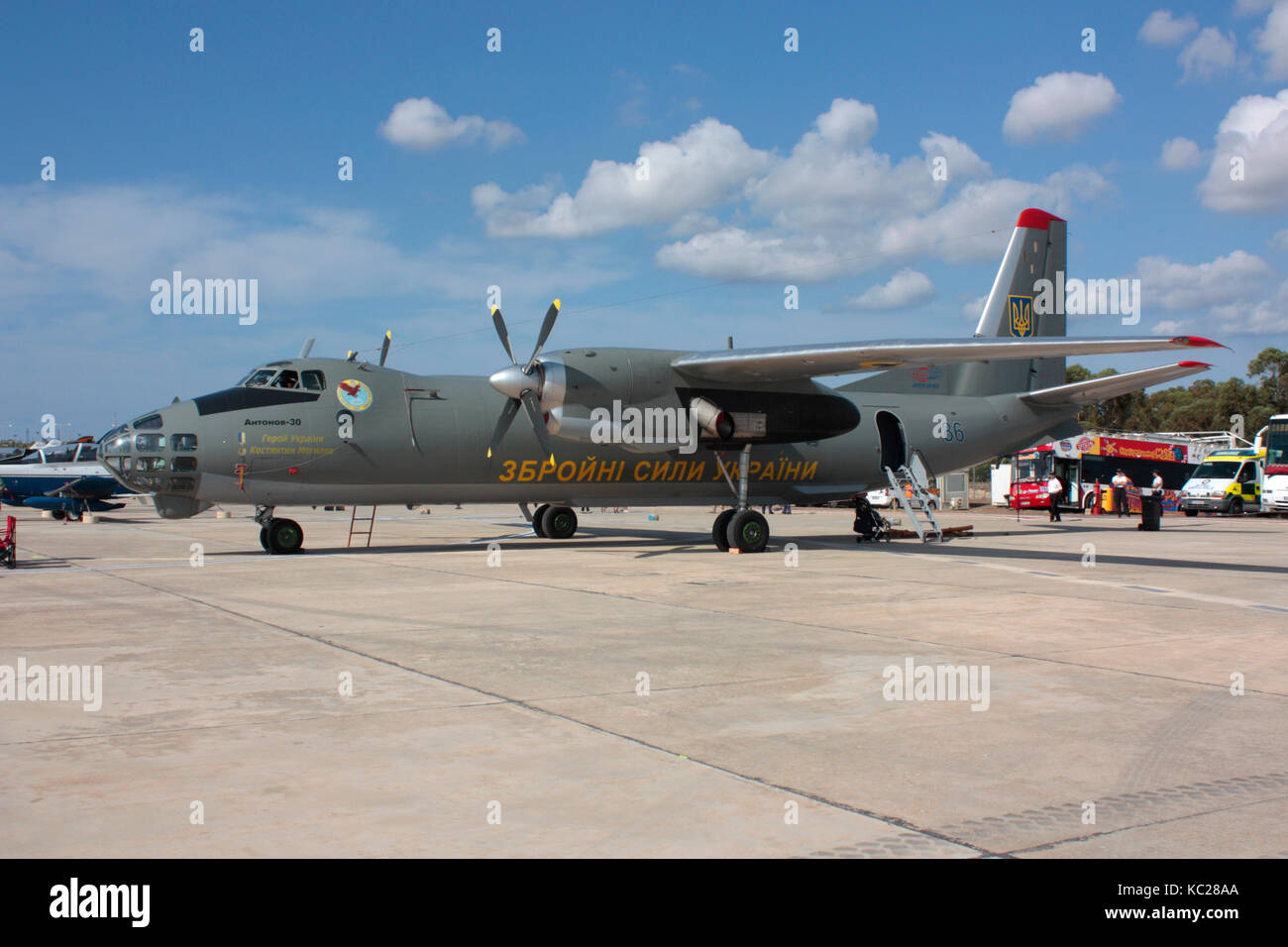 Antonov An-30 'Open Skies' aircraft of the Ukrainian Armed Forces - Stock Image