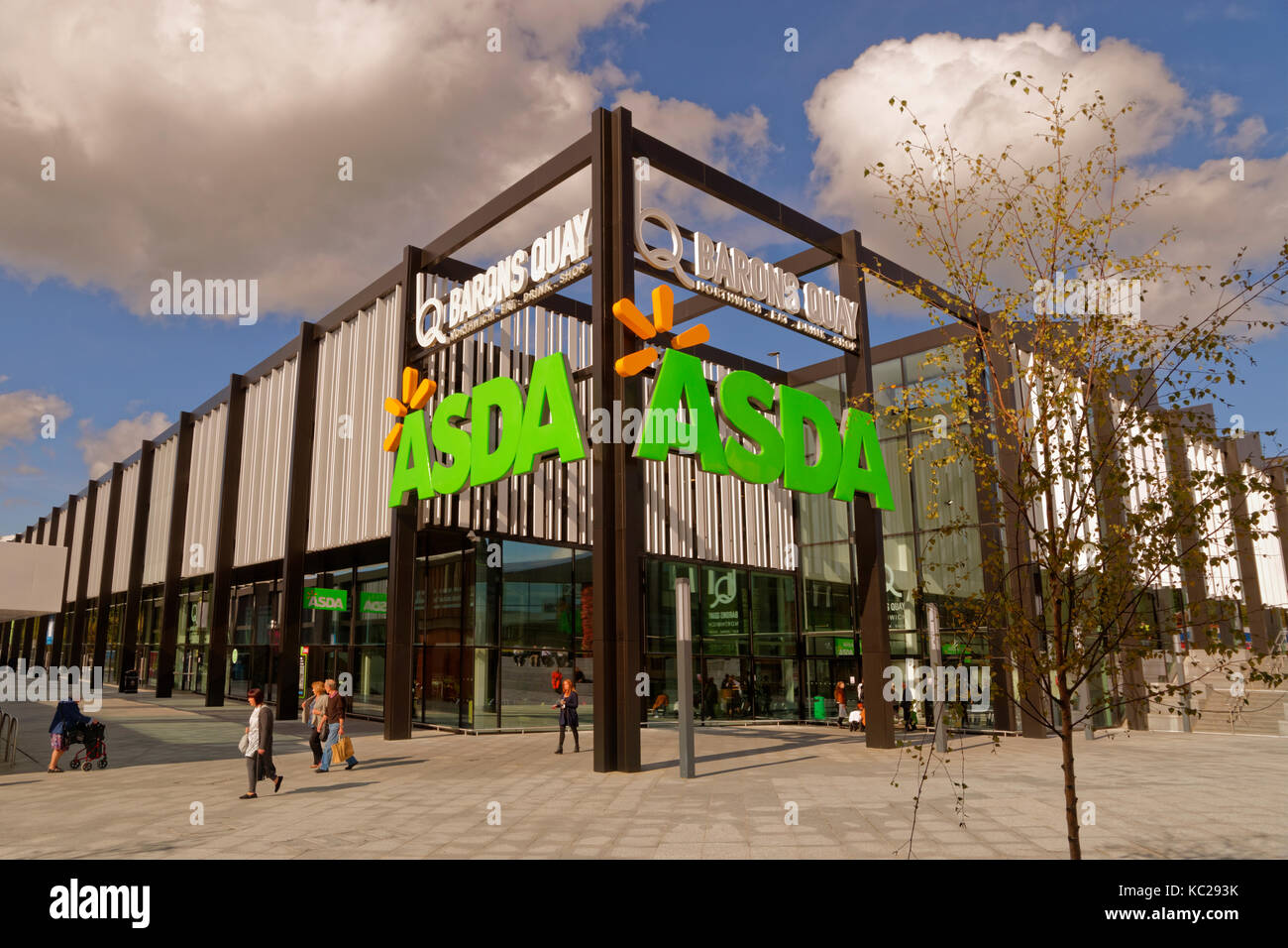 Asda superstore at Barons Quay, Northwich, Cheshire, England, UK. - Stock Image
