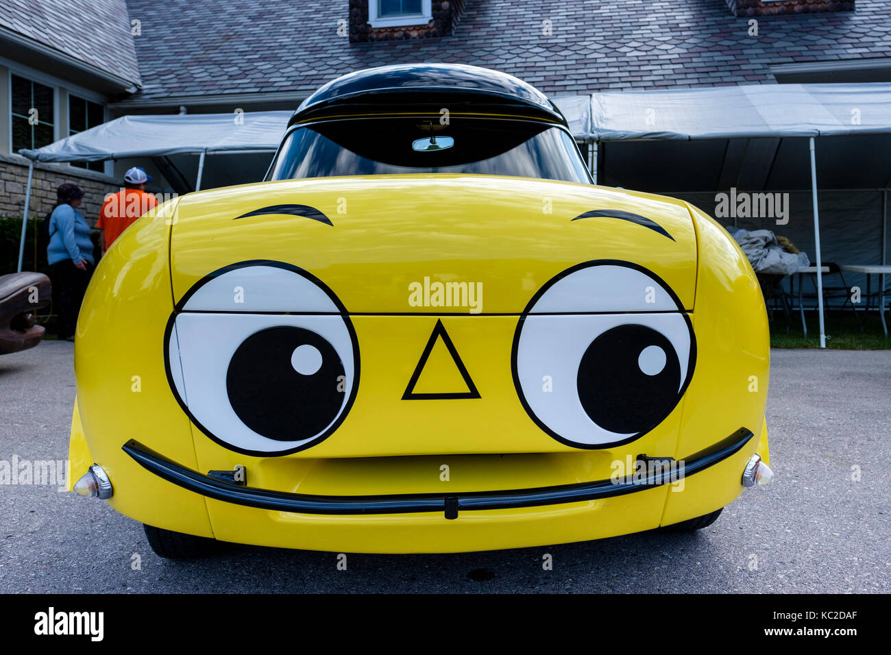 Mr. Beep The Talking Car, customized car used by BP Oil Company of Canada for a schoolchildren road safety program - Stock Image