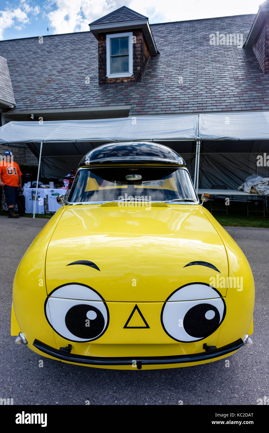 Mr. Beep The Talking Car, one-of-a-kind car used by BP Oil Company of Canada for a schoolchildren road safety program - Stock Image