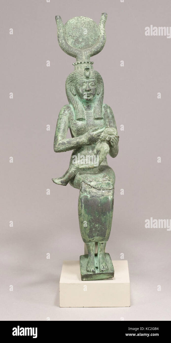 Statuette, Isis, Horus, Late Period, Dynasty 26–30, 664–332