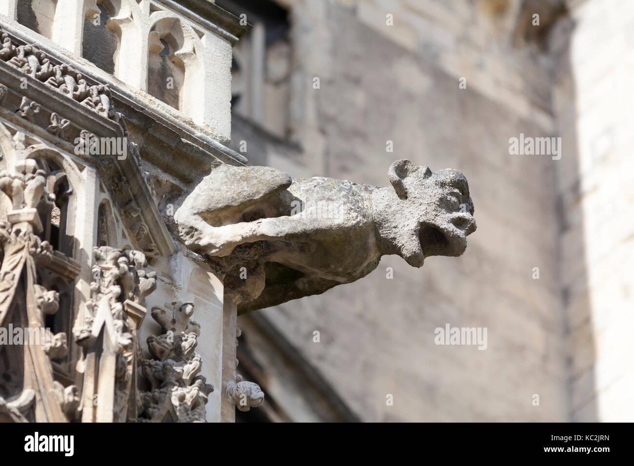 UK, Cantebury, stone gargoil on Cantebury cathedral. - Stock Image