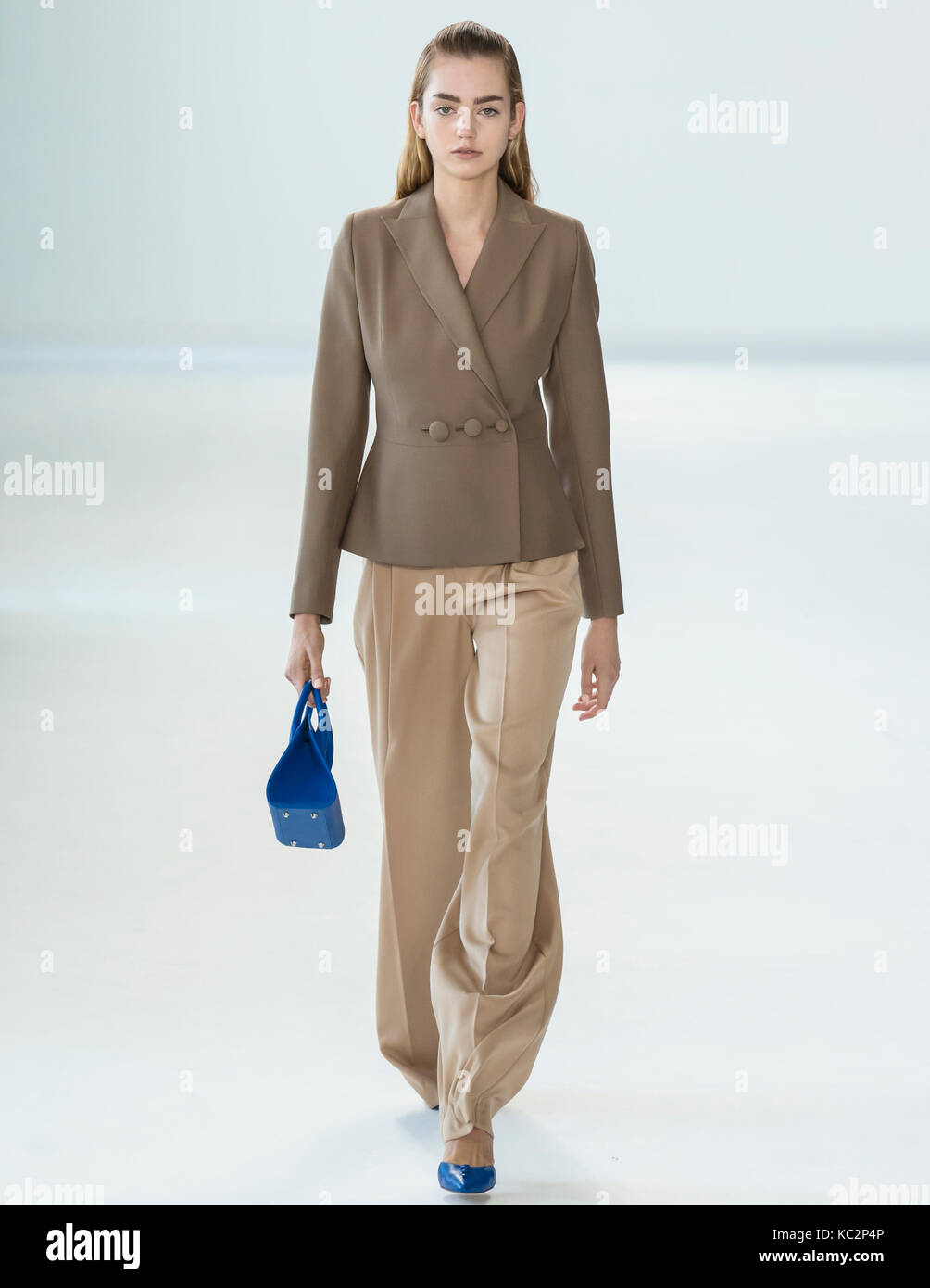 NEW YORK, NY - September 10, 2017: Shannon Thaler walks the runway at the Denibi Spring Summer 2018 fashion show - Stock Image