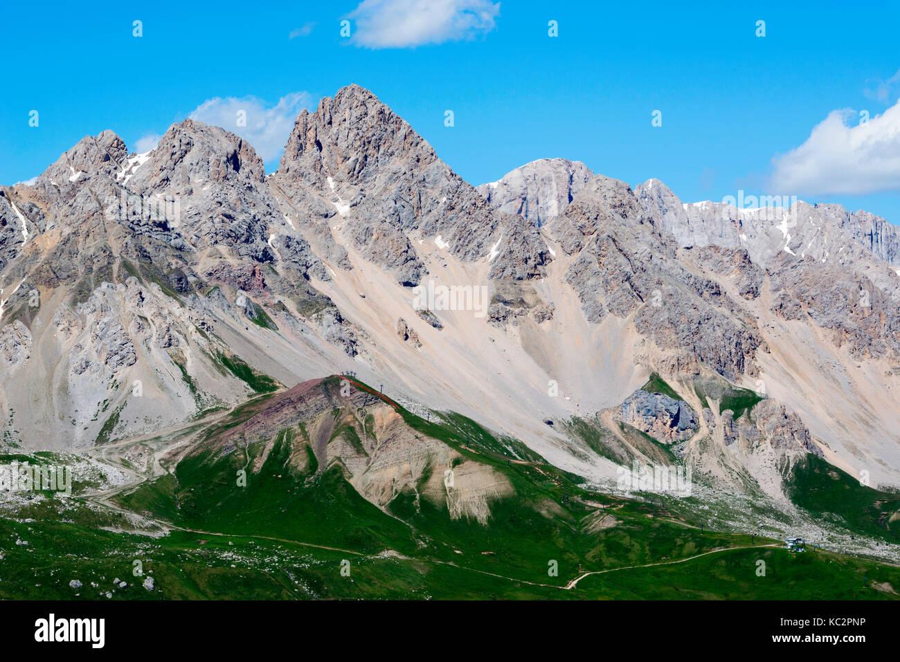 Uomo peak, San Pellegrino pass, Dolomites, Trentino Alto Adige, Italy Stock Photo