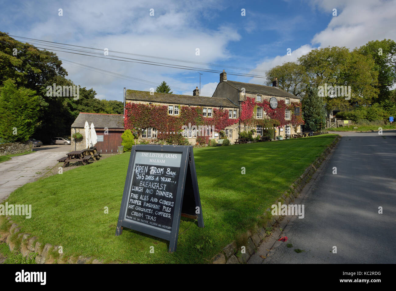 The Lister Arms, Malham, Yorkshire Dales National Park - Stock Image