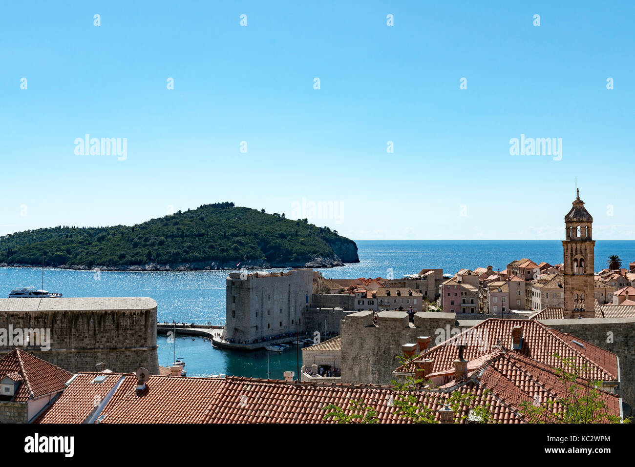 View from Dubrovnik cable car station - Stock Image