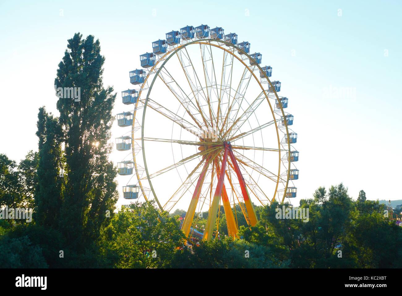 Aschaffenburger Volksfest, Riesenrad, Aschaffenburg, Unterfranken, Franken, Bayern, Deutschland, Europa  I Fun Fair - Stock Image