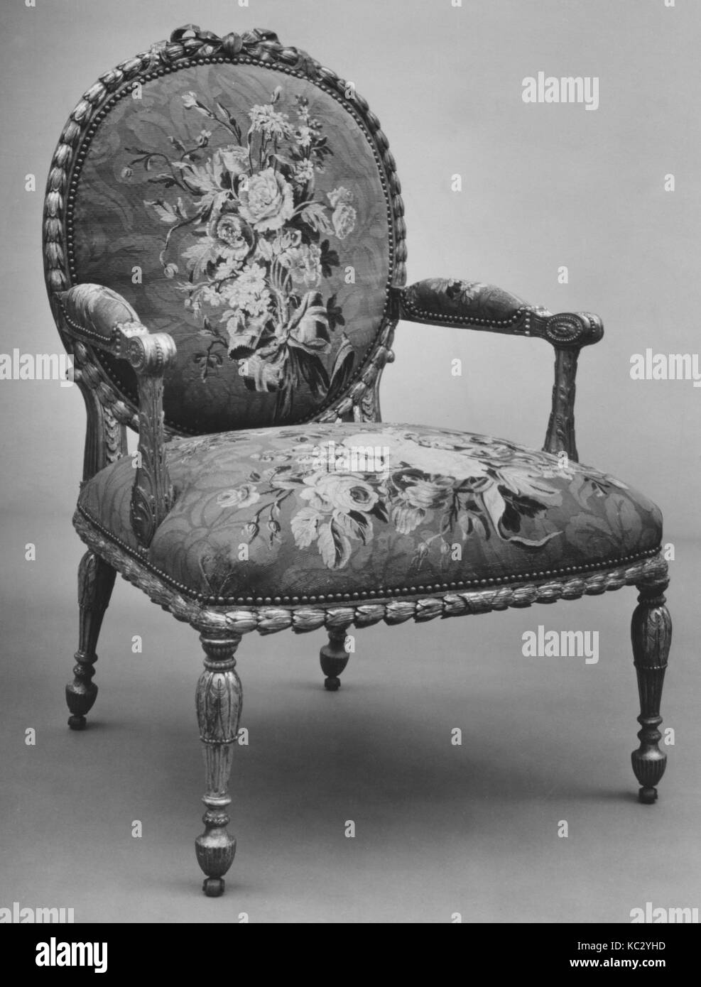 Armchair (one of a set of six), John Mayhew, 1769–71 - Stock Image