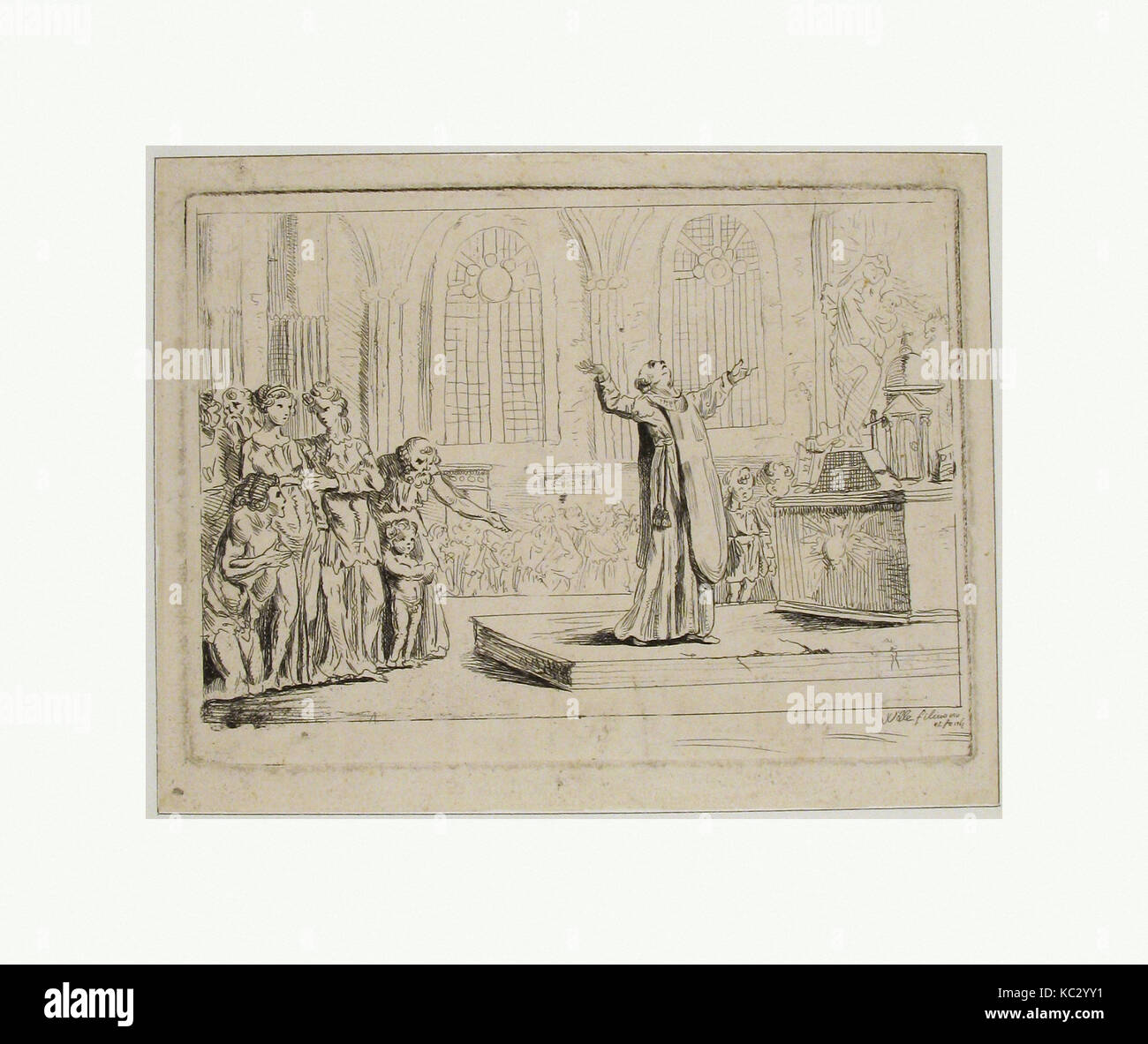 https://c8.alamy.com/comp/KC2YY1/priest-holding-a-service-before-an-altar-pierre-alexandre-wille-nd-KC2YY1.jpg