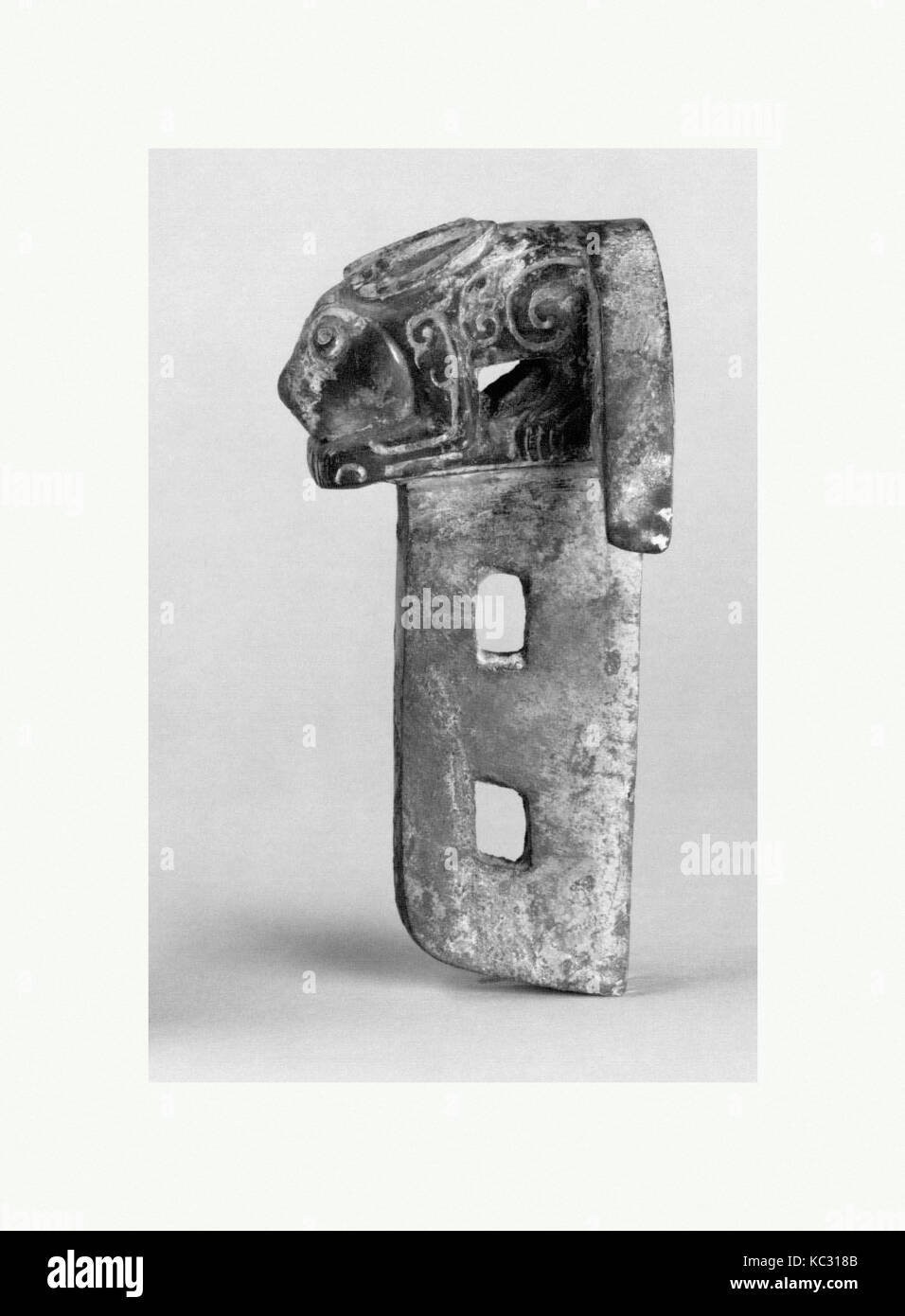 西周青銅軎, Chariot Linchpin with Rabbit, 11th–9th century B.C - Stock Image