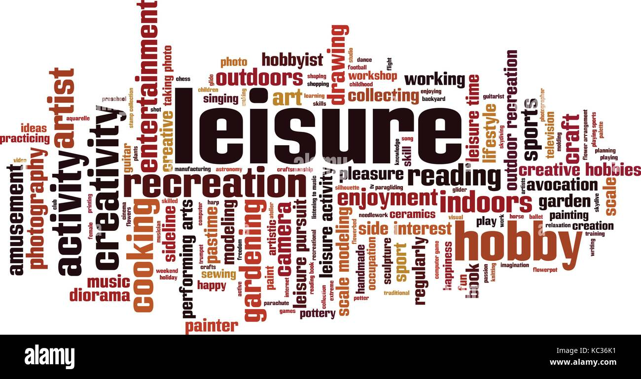 Leisure word cloud concept. Vector illustration - Stock Vector