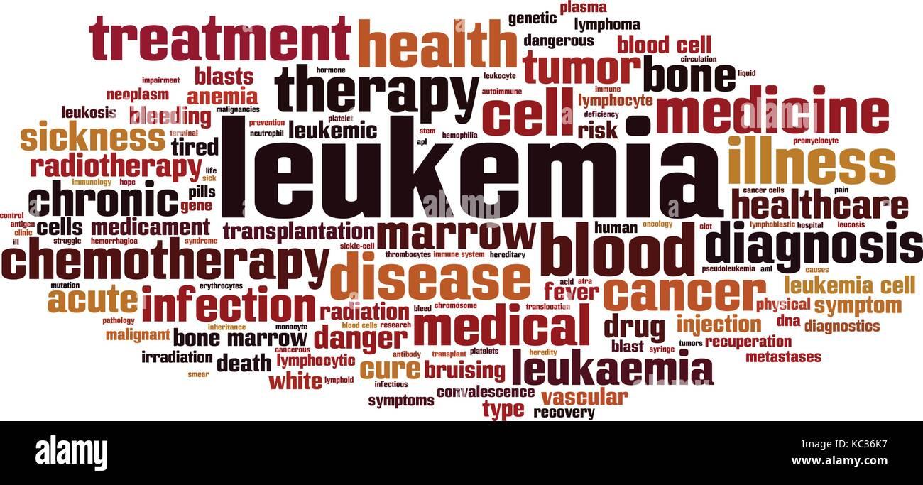Leukemia cloud concept. Vector illustration - Stock Image