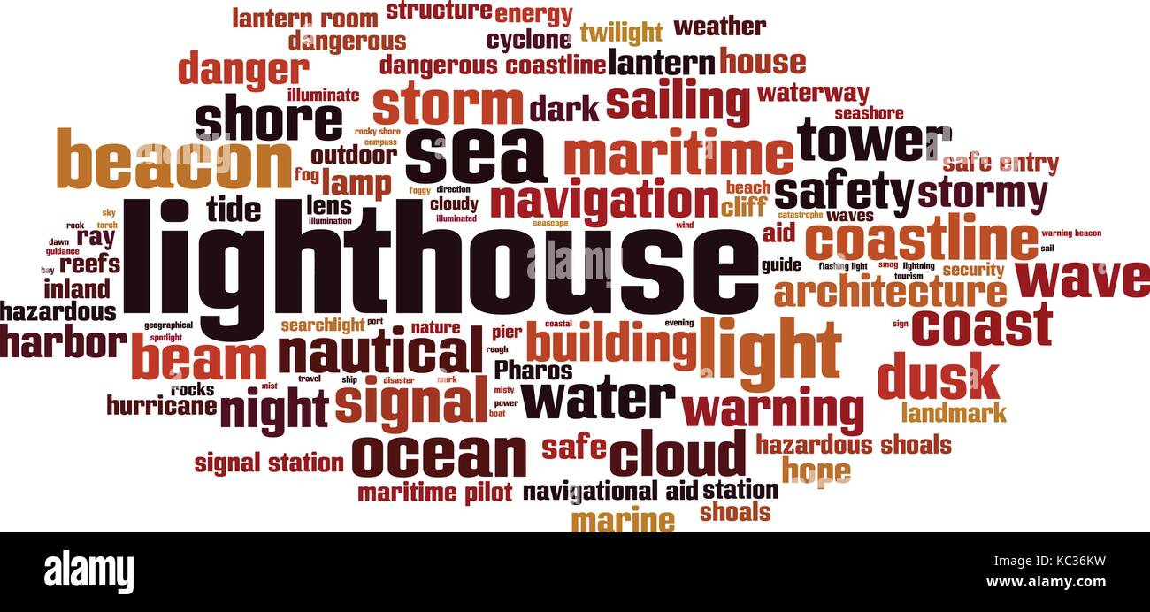 Lighthouse word cloud concept. Vector illustration - Stock Vector