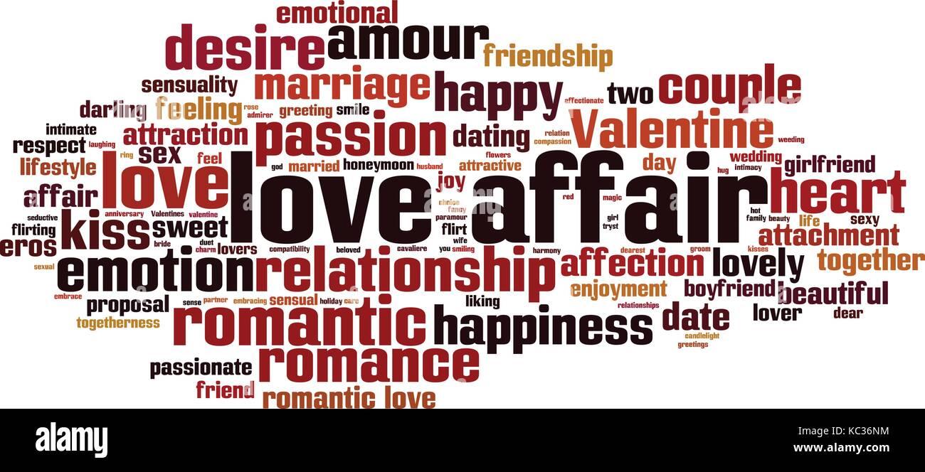 Love Affair Word Cloud Concept Vector Il Ration