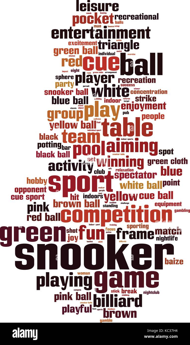 Snooker word cloud concept. Vector illustration - Stock Vector