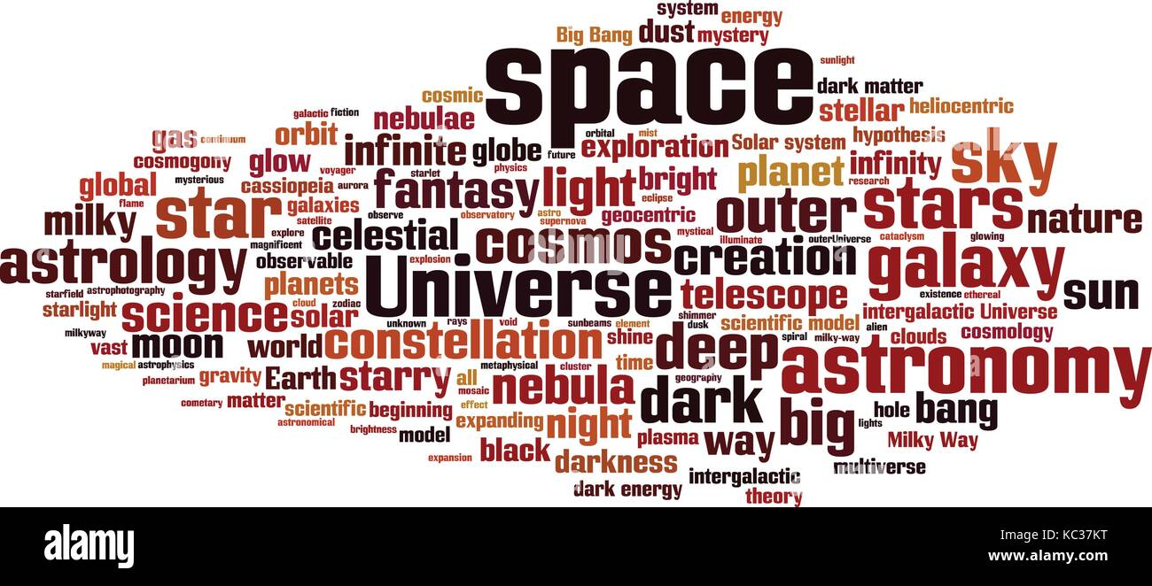 Space word cloud concept. Vector illustration Stock Vector