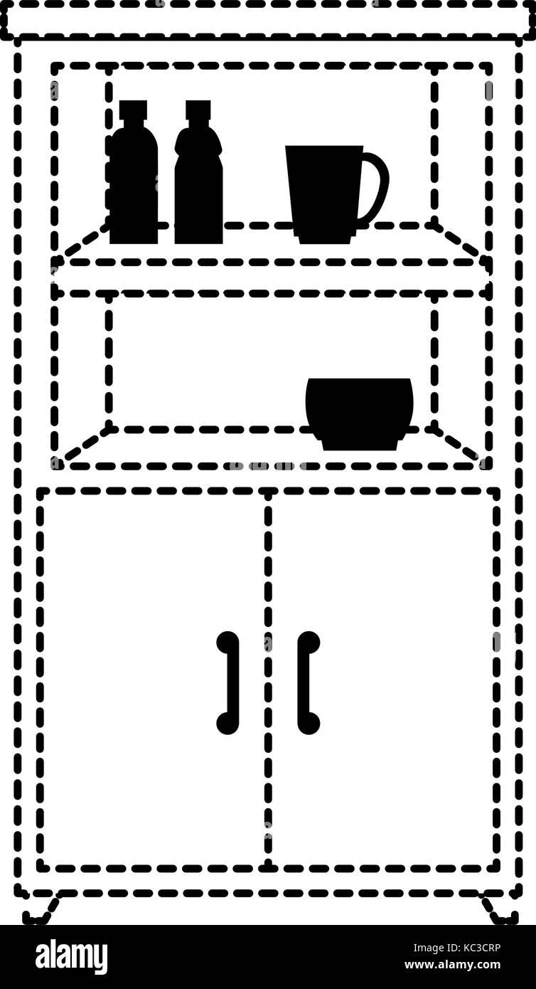 Kitchen Cabinet Isolated Icon Vector Illustration Design Stock
