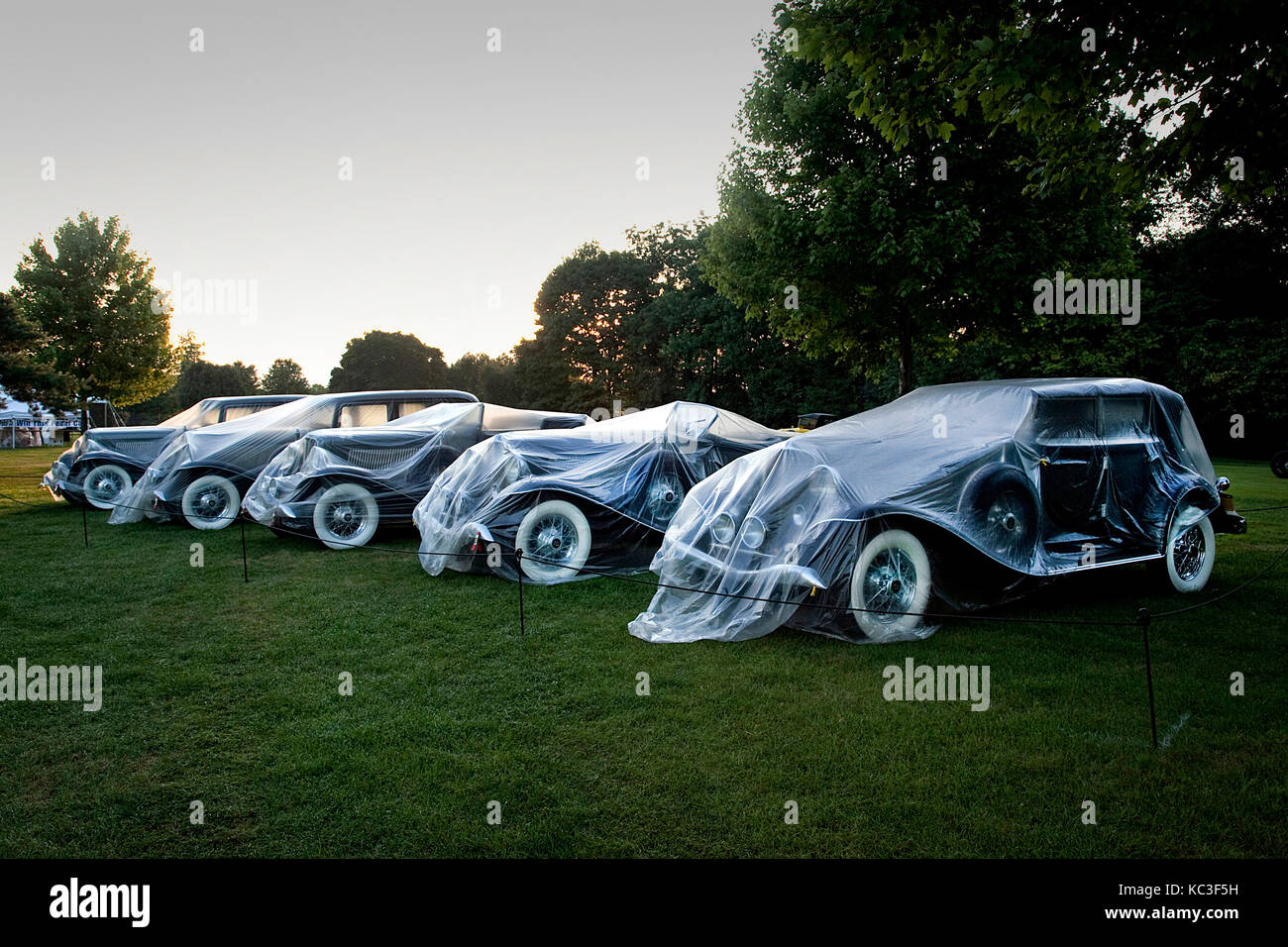 Jazz age classic cars at the Concours  d'Elegance of America at St John's Plymouth MI USA - Stock Image