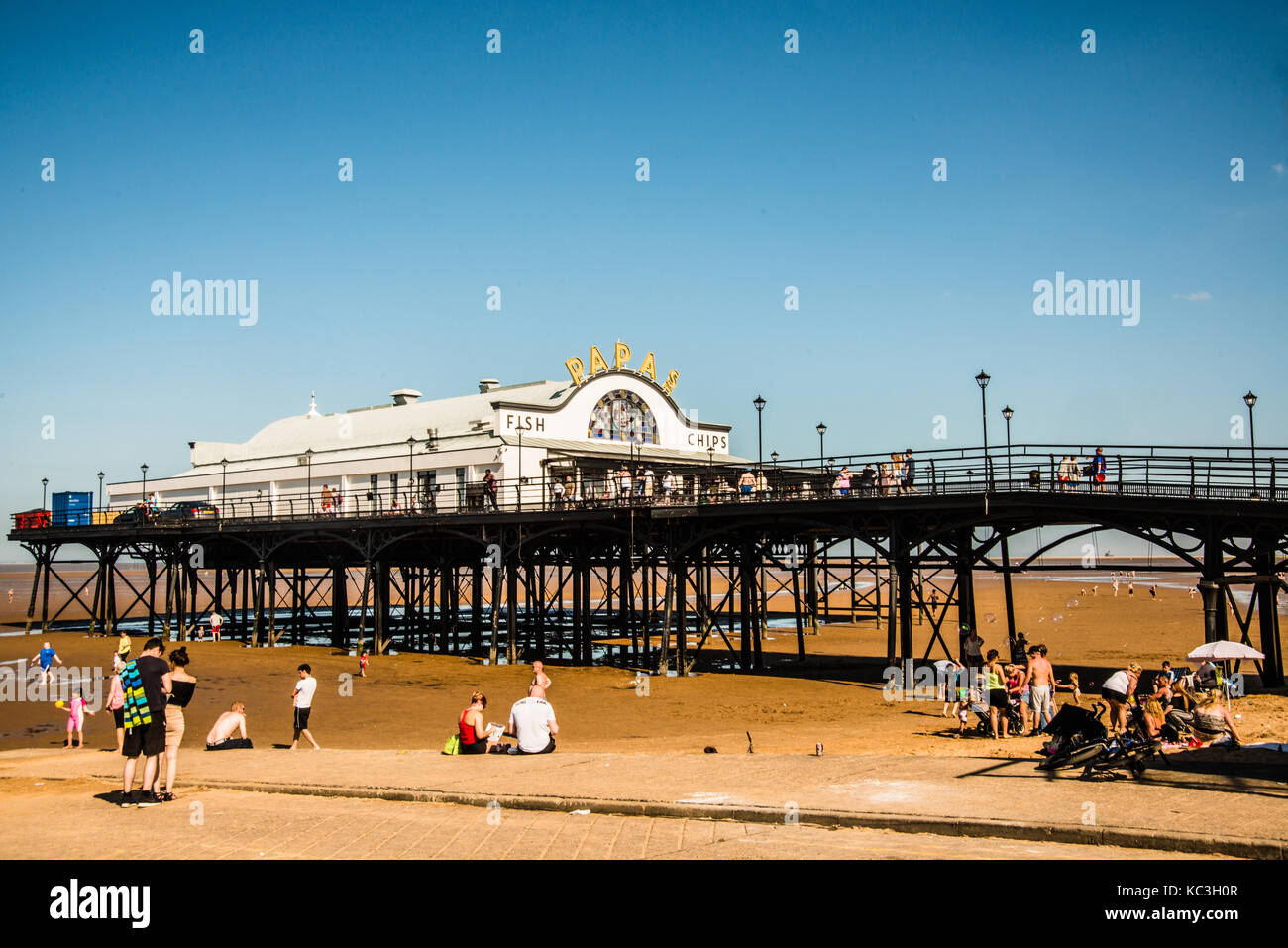 hot day by the pier Cleethorpes Yorkshire Ray Boswell - Stock Image