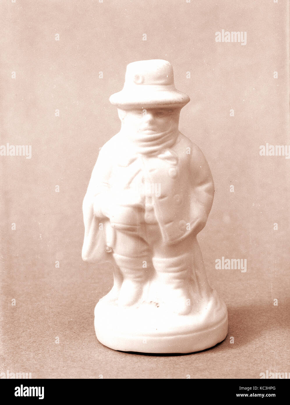 Figure of a Coachman, 1830–70, Probably made in Bennington, Vermont, United States, American, Parian porcelain, - Stock Image